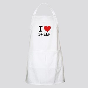 I love sheep BBQ Apron